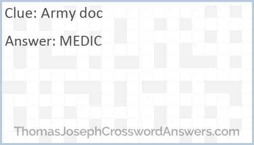 Army doc Answer