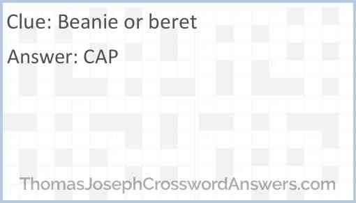 Beanie or beret Answer