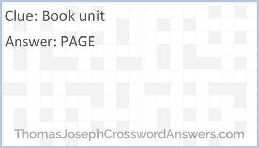 Book unit Answer