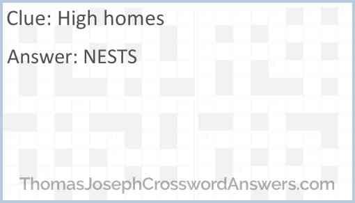 High homes Answer
