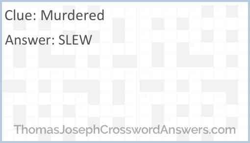 Murdered Answer