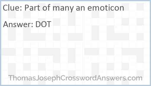 Part of many an emoticon Answer