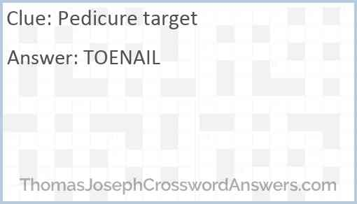 Pedicure target Answer