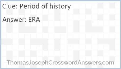 Period of history Answer