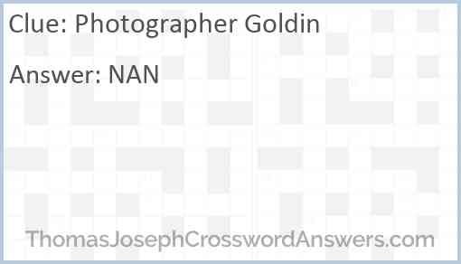 Photographer Goldin Answer