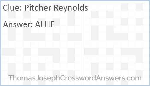 Pitcher Reynolds Answer