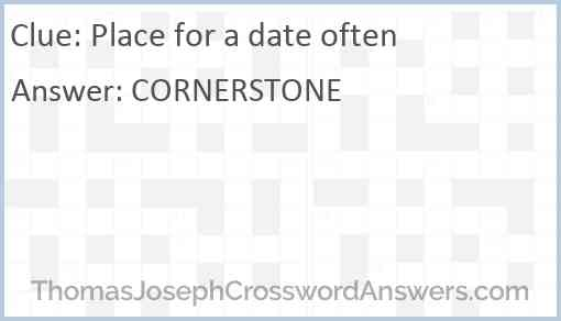 Place for a date often Answer