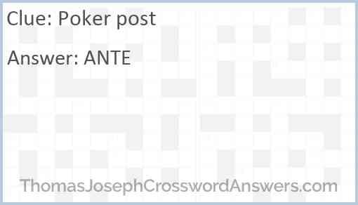 Poker post Answer