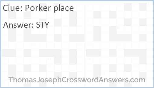 Porker place Answer