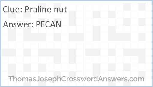 Praline nut Answer
