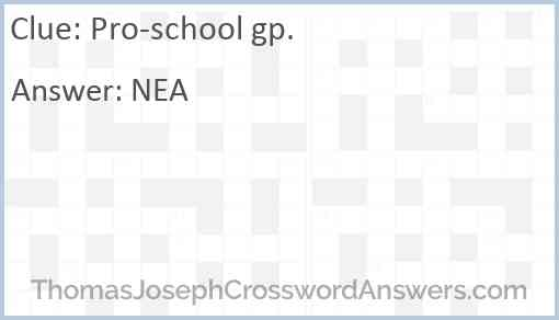 Pro-school gp. Answer
