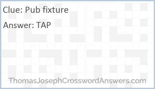 Pub fixture Answer