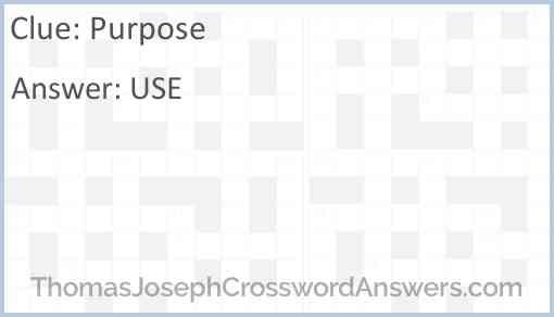 Purpose Answer