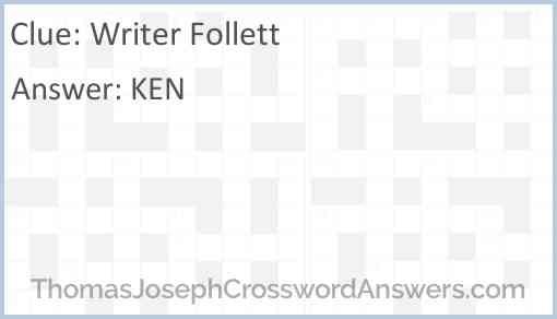 Writer Follett Answer
